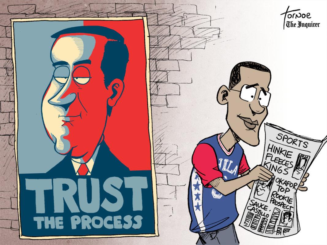 philadelphia sixers trust the process ile ilgili görsel sonucu